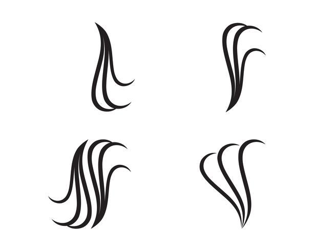 vettore di logo e simboli di capelli