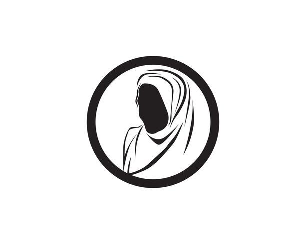 cheveux femme et visage logo et symboles vectoriels