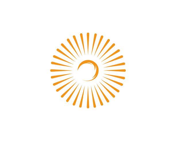 Zon logo en symbolen ster pictogram web