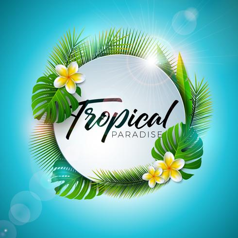 Typographie Summer Tropical Paradise