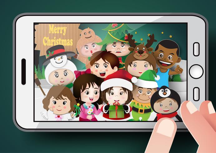 Christmas cute kids