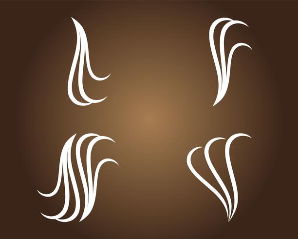logotipo de cabelo e vetor de símbolos