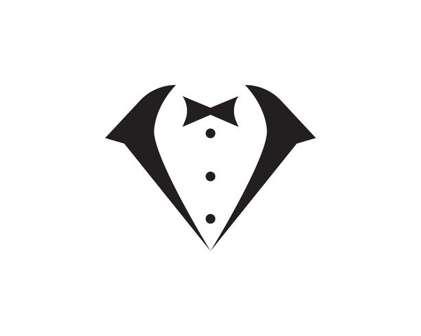 Tuxedo man logo and symbols black icons template vector