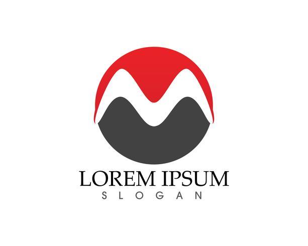Iconos de vector de letra M tales iconos de plantilla de logotipos