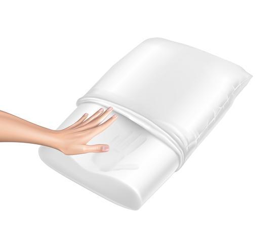 Vector 3d almohada realista con efecto memoria
