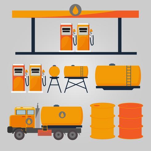 Olio industriale della stazione di servizio