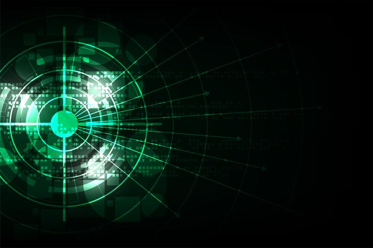 Abstraktes Hintergrund-Technologiekonzept des Vektors.