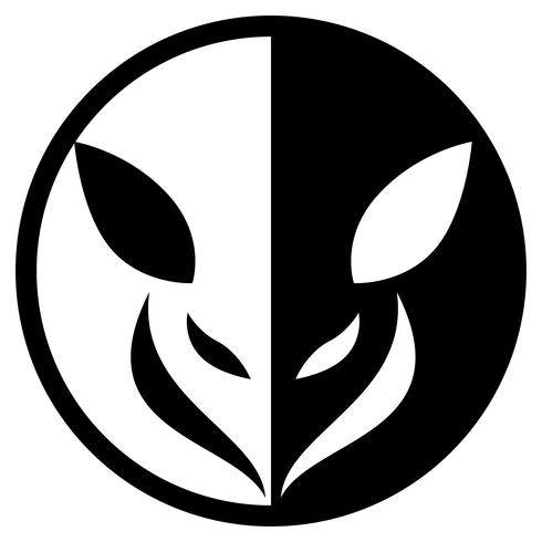 Small Animal Circular Logo Isolated Vector Illustration