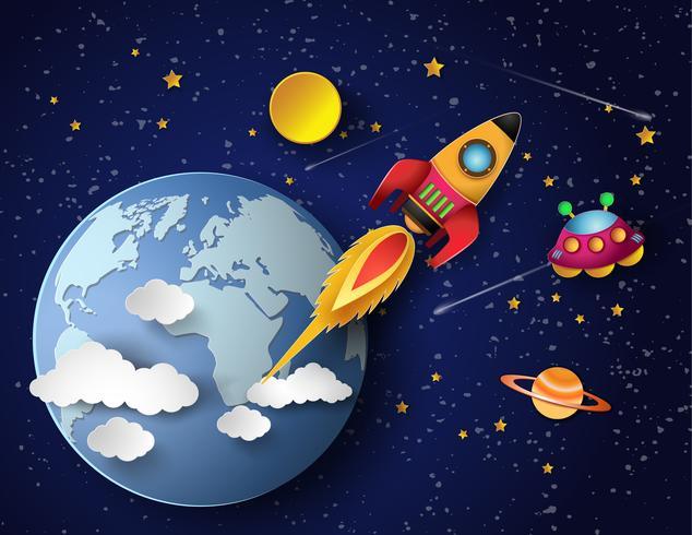 Lancio di razzi spaziali