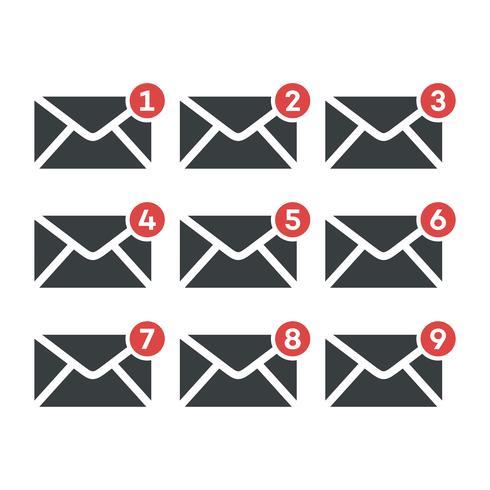 Stellen Sie Umschlag-E-Mail-Ikonen-Logo Template Illustration Design ein. Vektor EPS 10.