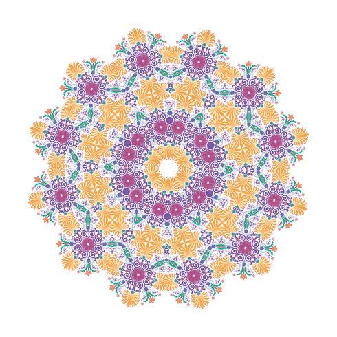Vector floral  Mandala illustration design