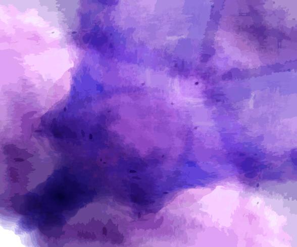 Handmålade mörkblå lila akvarellbakgrund. vektor