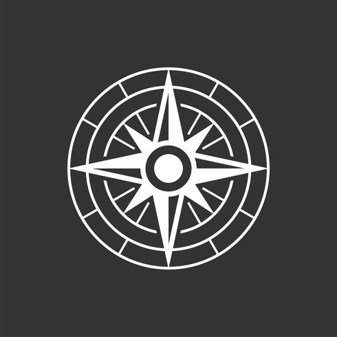 Kompas Rose Icon Logo Template Illustration Design. Vector EPS 10.