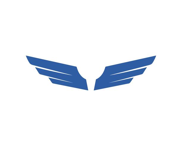 Plantilla de vector logo pájaro y ala