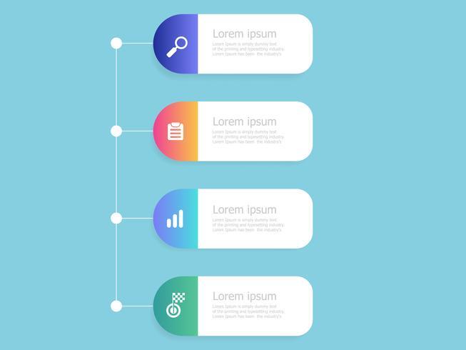 vertical timeline infographics 4 steps vector