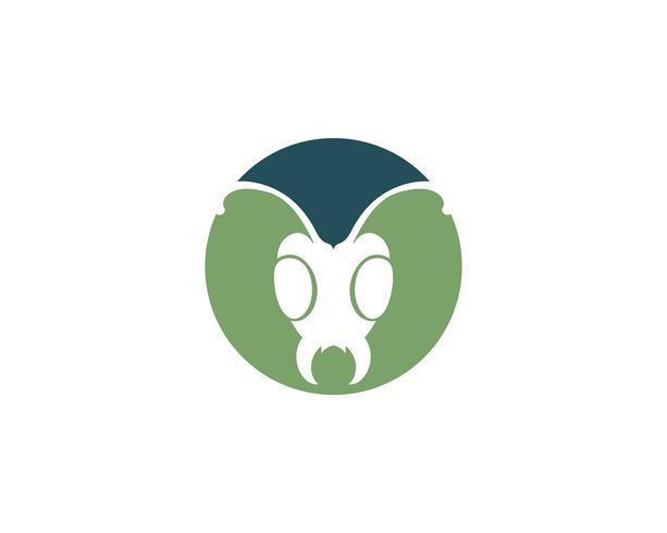 Ant head Logo template vector illustration