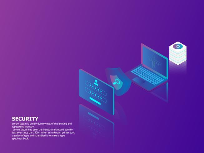concepto de seguridad de red vector