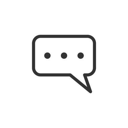 Toespraak pictogram Logo sjabloon afbeelding ontwerp. Vector EPS 10.