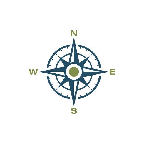 Bussola Rose Icon Logo Template Illustration Design. Vettore ENV 10.