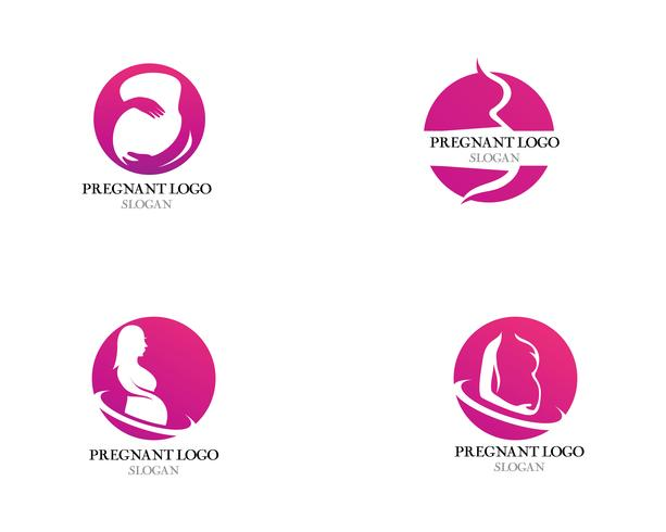 Pregnant logo template vector icon illustration