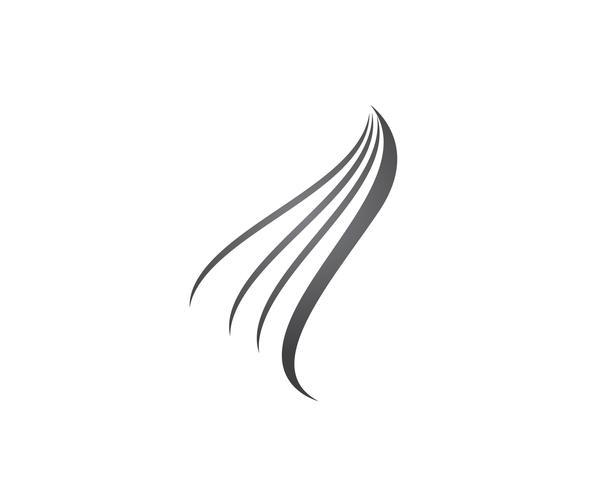 Icona di vettore di capelli e modello di logo