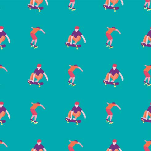 Snygg skridskoåkare i jeans och sneakers. Skateboard. Vektor illustration för ett vykort eller en affisch, skriv ut för kläder. Gata kulturer.