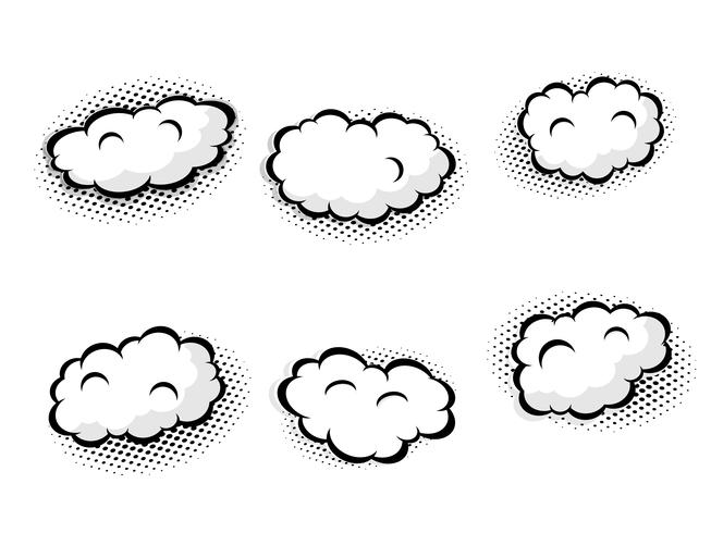 conjunto de burbujas de discurso en blanco vector