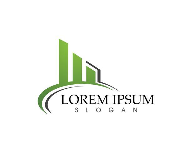 Logo de finance d'entreprise et symboles vectoriels concept