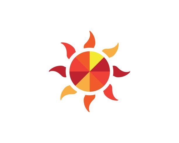 zon logo vector sjablonen