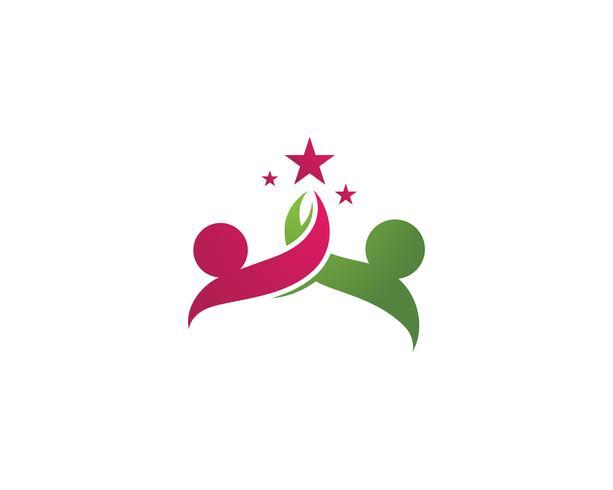 Sucesso de estrelas pessoas importam logotipo e símbolos