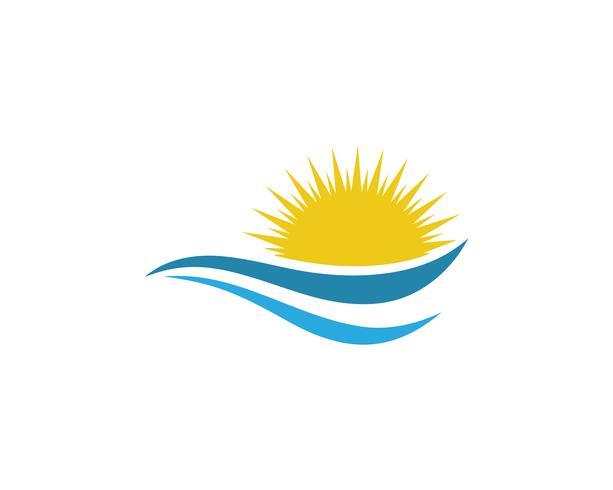 sol logo plantillas vectoriales