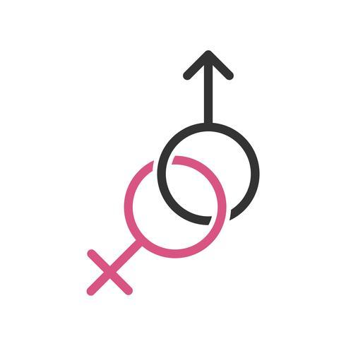 Progettazione dell'illustrazione di Logo Template Illustration femminile e maschio. Vettore ENV 10.