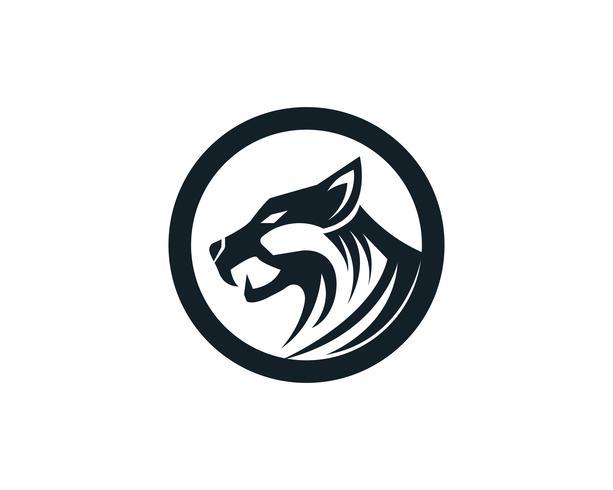 Mascote de logotipo de cabeça de tigre em fundo branco