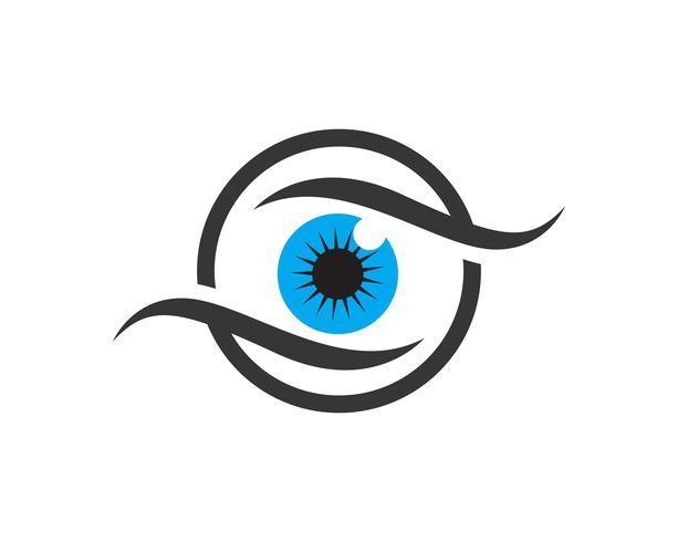 Eye Care vector logo design template