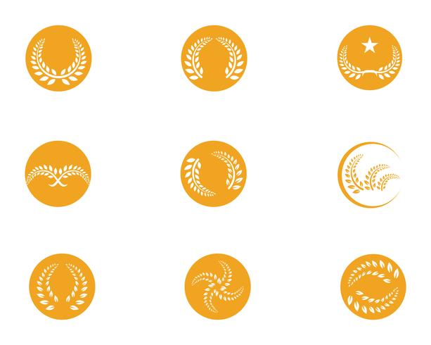 agriculture rice food meal logo and symbols template icons