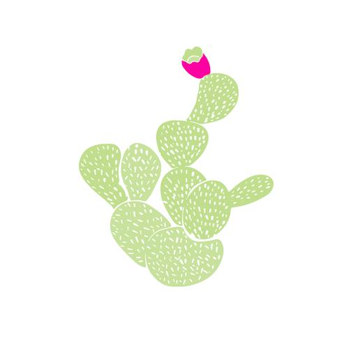 Modèle sans couture décoratif dessiné de main avec des cactus. dans le style scandinave. Design tropical tendance pour textile