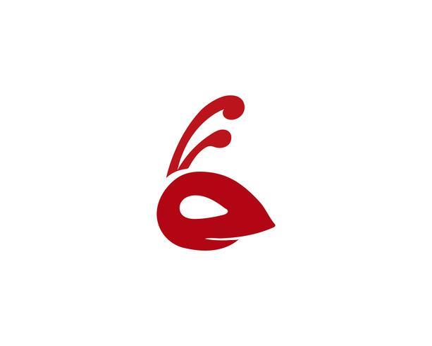 Illustrazione di vettore del modello Logo testa di formica