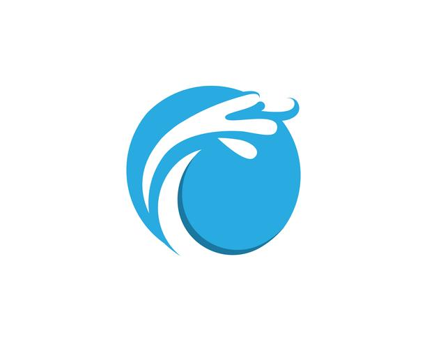 splash Water, Wave-symbool en Logo Template