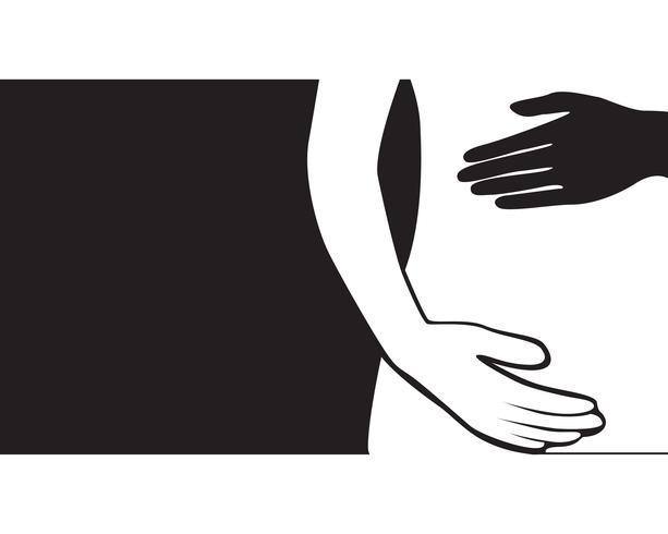 zwangere vrouw lijn kunst symbolen sjabloon vector