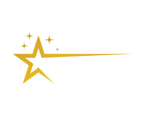 Star logo vector and template icon