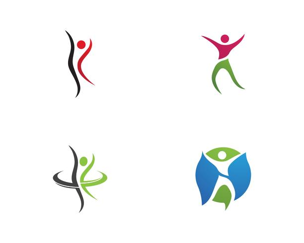 Star success people care logo and symbols