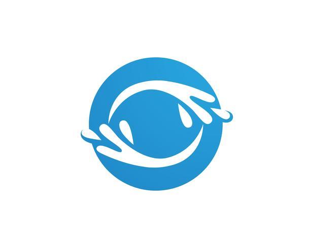splash eau, symbole de la vague et modèle de logo