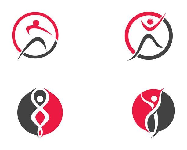 Icone del modello di salute logo e simboli