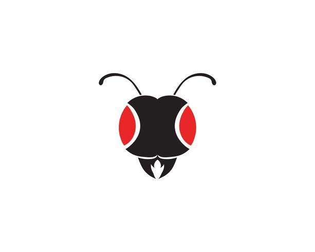 Cabeça de formiga ilustração em vetor modelo logotipo