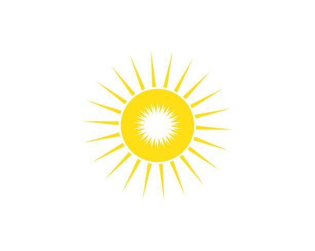 Sonne Illustration Logo Vektor Icon Vorlage