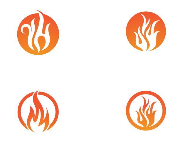 Plantilla de logotipo de icono de vector de fuego