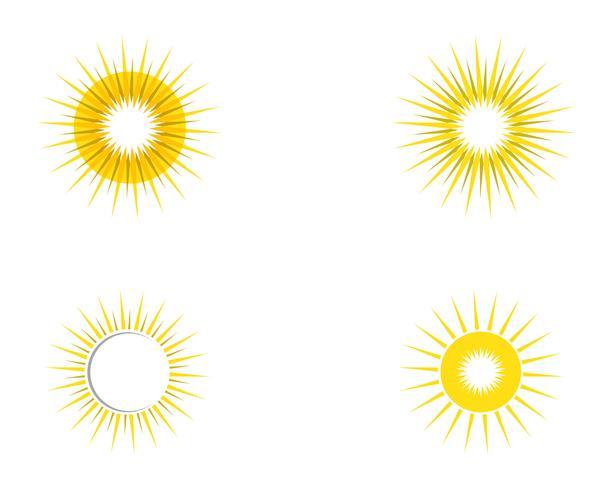 modèle d'icône soleil ilustration logo vector