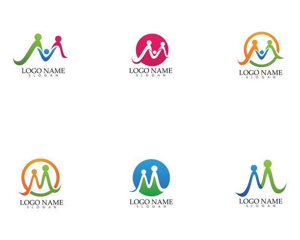W m letter wave Logo Template vector illustration