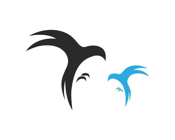 pájaro mosca signo abstracto plantilla iconos vector
