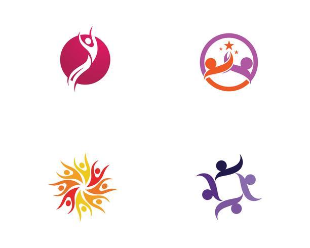 Star framgång människor bryr sig logotyp och symboler